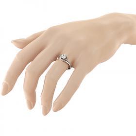 Δαχτυλίδι Λευκόχρυσος Κ14 με Ζιργκόν Μονόπετρα