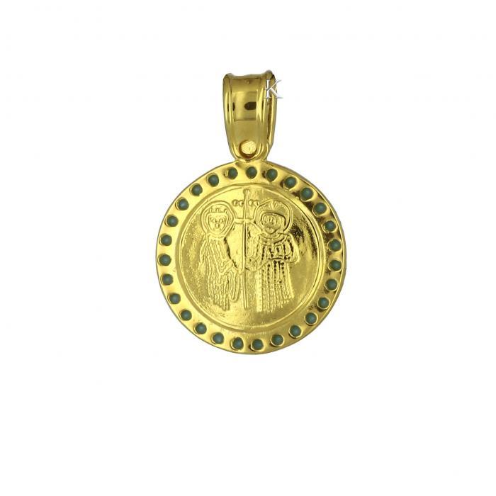 Κωνσταντινάτο Χρυσός Κ9 Διπλής Όψεως με Τιρκουάζ