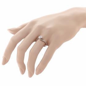 Μονόπετρο Δαχτυλίδι Λευκόχρυσος Κ9 με Ζιργκόν Μονόπετρα