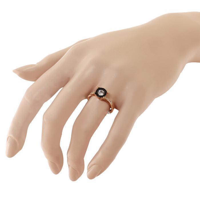 Μονόπετρο Δαχτυλίδι Ροζ Χρυσός Κ14 με Ζιργκόν