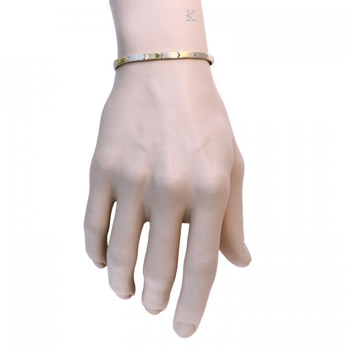 SKU-15690 / Βραχιόλι Χρυσός & Λευκόχρυσος Κ9