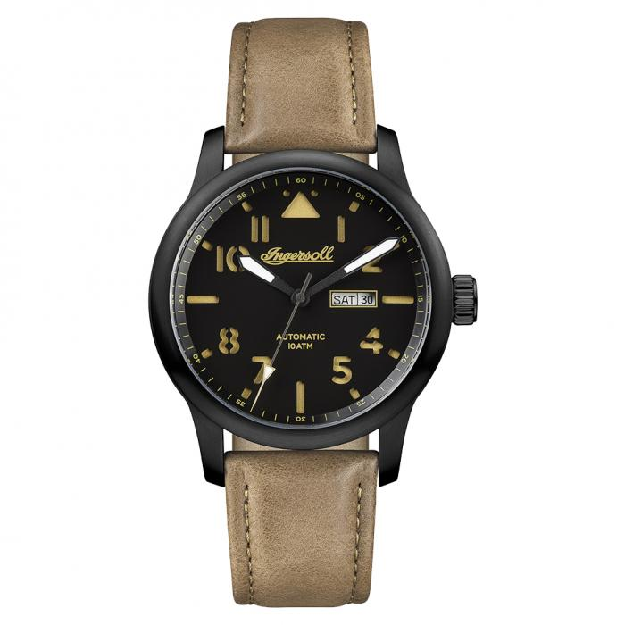 SKU-15756 / INGERSOLL Hatton Automatic Brown Leather Strap