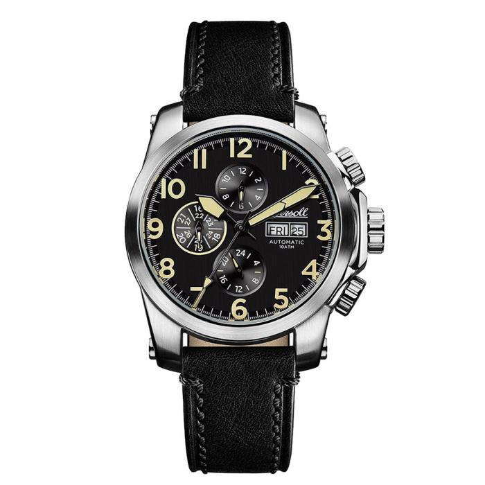 SKU-15753 / INGERSOLL Manning Automatic Black Leather Strap