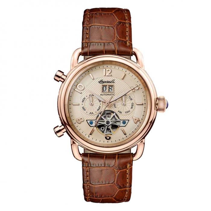 SKU-15752 / INGERSOLL New England Automatic Brown Leather Strap