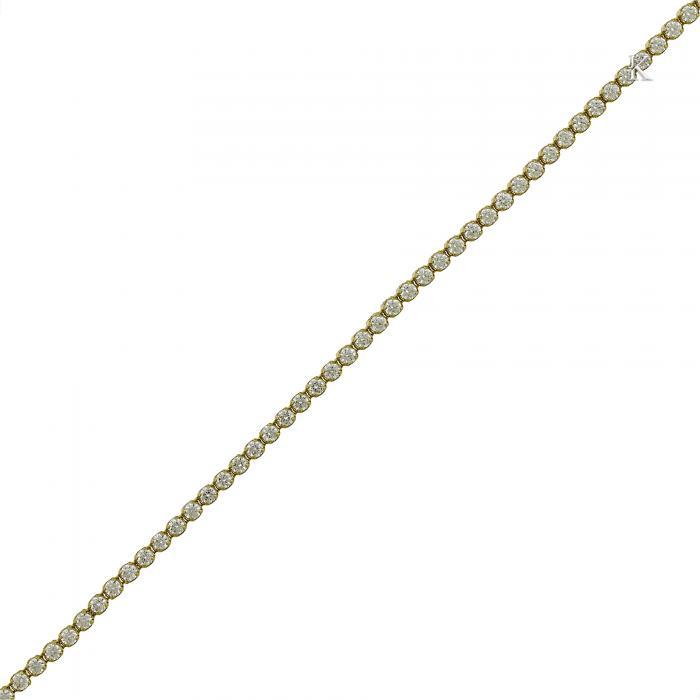 SKU-16234 / Βραχιόλι Ριβιέρα Χρυσός Κ14 με Ζιργκόν