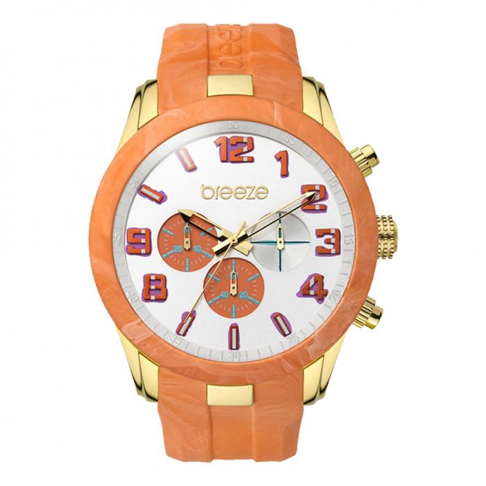 SKU-16921 / BREEZE Eye Candy Gold Orange Strap