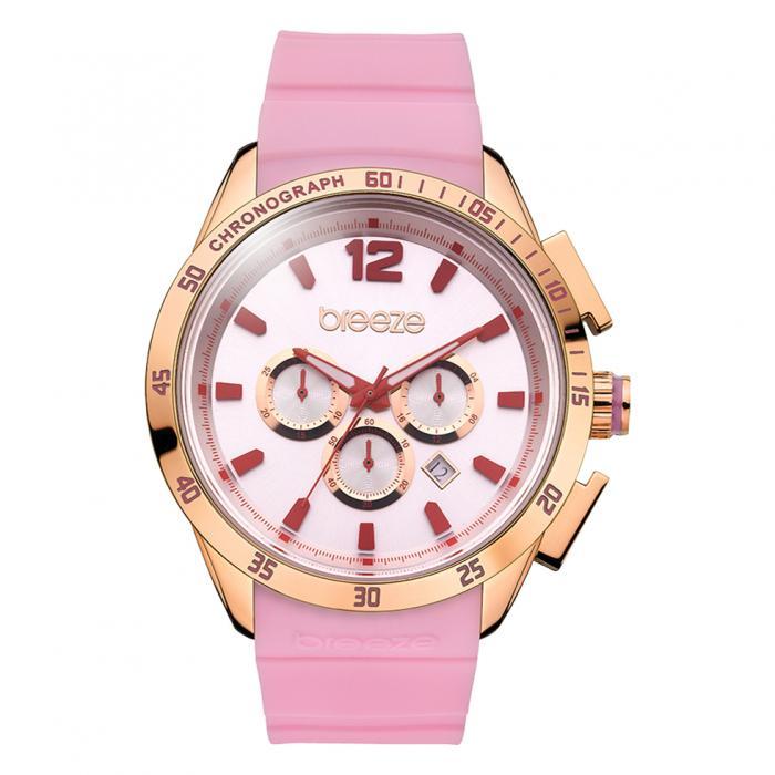 SKU-16545 / BREEZE Popsicles Chrono Rose Gold Pink Strap