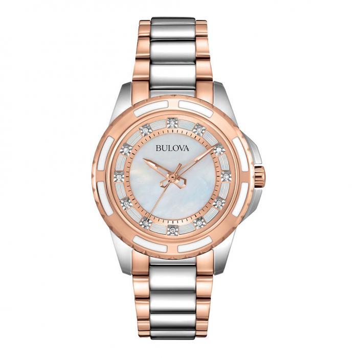 SKU-16113 / BULOVA Diamond Tone Stainless Steel Bracelet