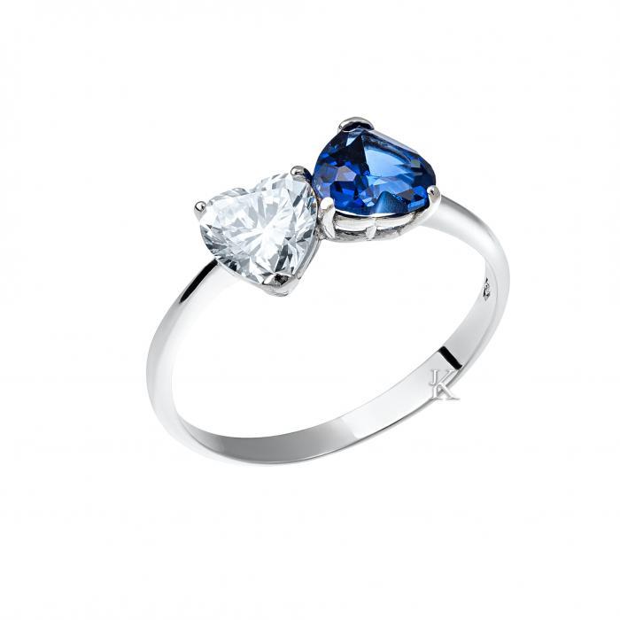 SKU-16986 / Δαχτυλίδι Μονόπετρο Λευκόχρυσος Κ18 με Ζιργκόν