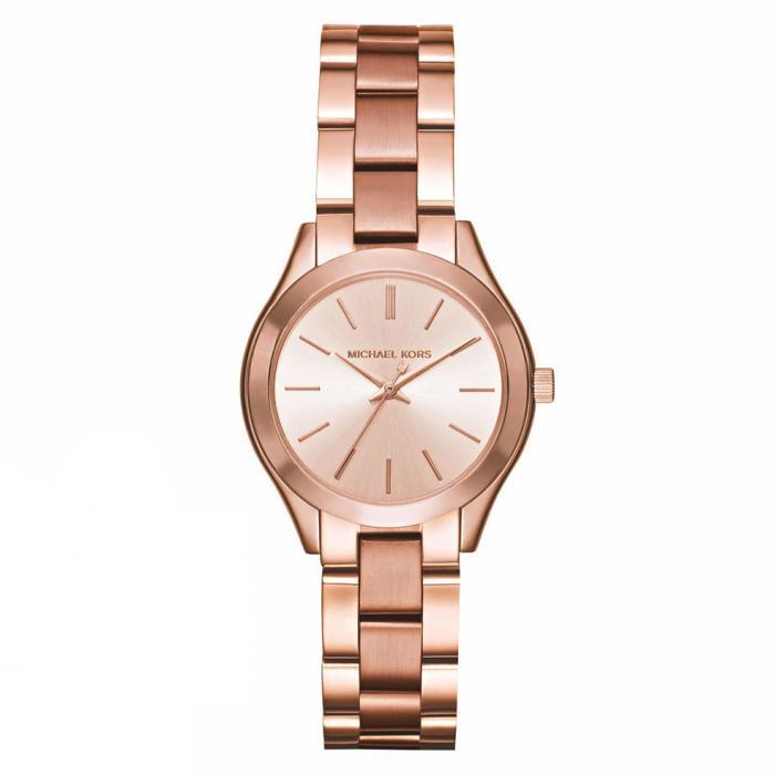 SKU-16224 / MICHAEL KORS Slim Runway Rose Gold Stainless Steel Bracelet