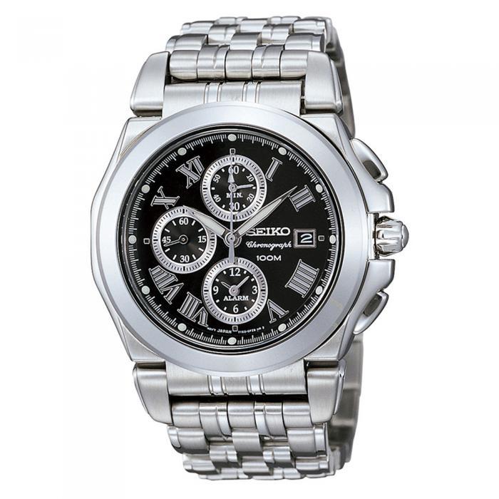 SKU-16077 / SEIKO Chronograph Alarm Stainless Steel Bracelet