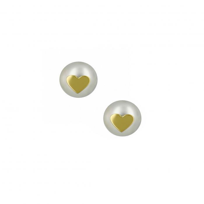 SKU-16956 / Σκουλαρίκια Χρυσός Κ14 με Μαργαριτάρι