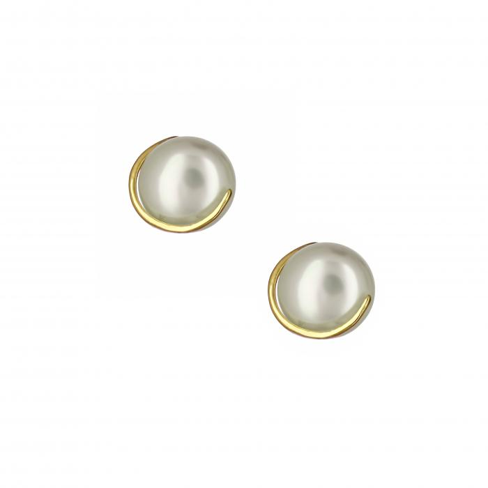 SKU-16536 / Σκουλαρίκια Χρυσός Κ14 με Μαργαριτάρια