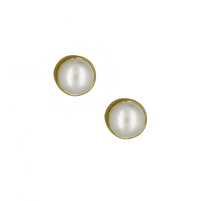 SKU-16539 / Σκουλαρίκια Χρυσός Κ14 με Μαργαριτάρια