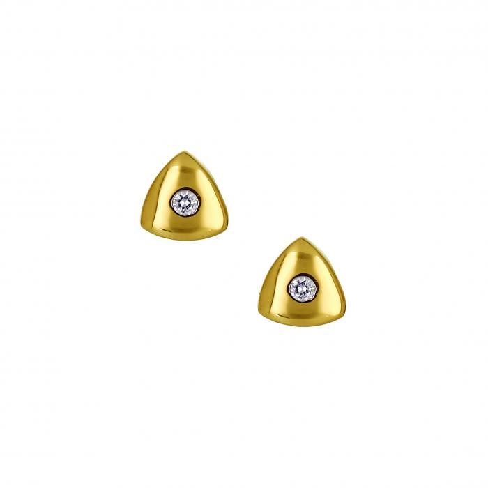 SKU-16561 / Σκουλαρίκια Χρυσός Κ14 με Ζιργκόν