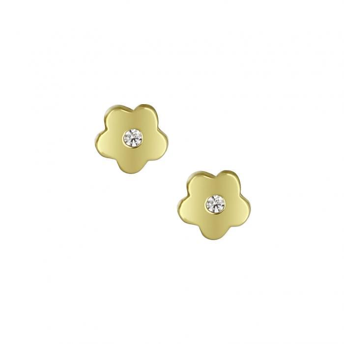 SKU-16842 / Σκουλαρίκια Χρυσός Κ14 με Ζιργκόν