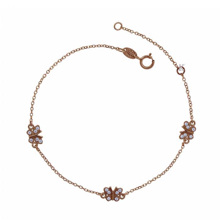 SKU-17960 / Βραχιόλι Ροζ Χρυσός Κ9 Με Ζιργκόν