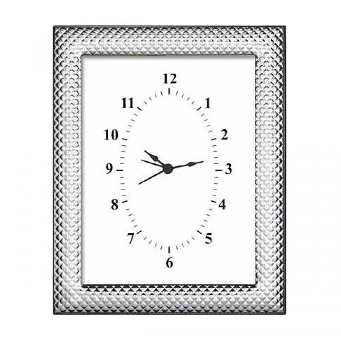 SKU-17677 / Επιτραπέζιο Ρολόι Ασημένιο.