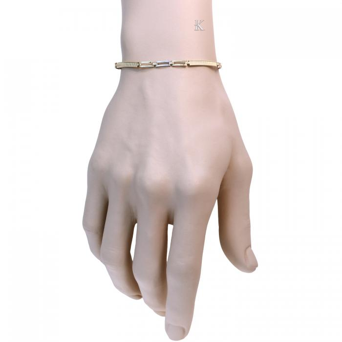 SKU-18561 / Αλυσίδα Χεριού Χρυσός & Λευκόχρυσος Κ14