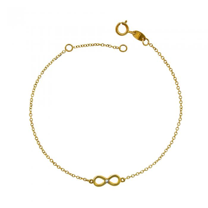 SKU-18469 / Βραχιόλι Ιnfinity Χρυσός Κ14 με Ζιργκόν