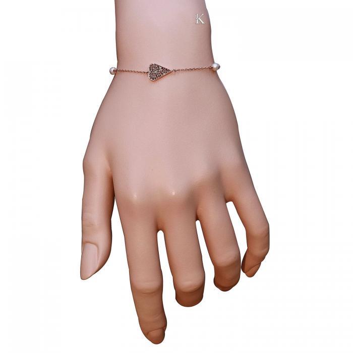 SKU-18756 / Βραχιόλι Καρδιά Ροζ Χρυσός Κ9