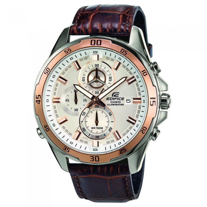 SKU-18123 / CASIO Edifice Chronograph Brown Leather Strap