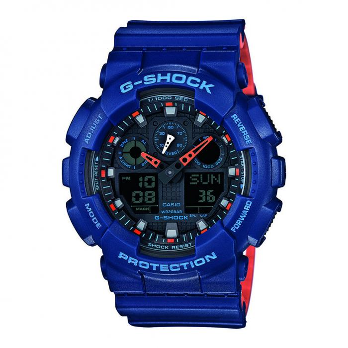 SKU-18424 / CASIO G-Shock Anadigi Blue Rubber Strap