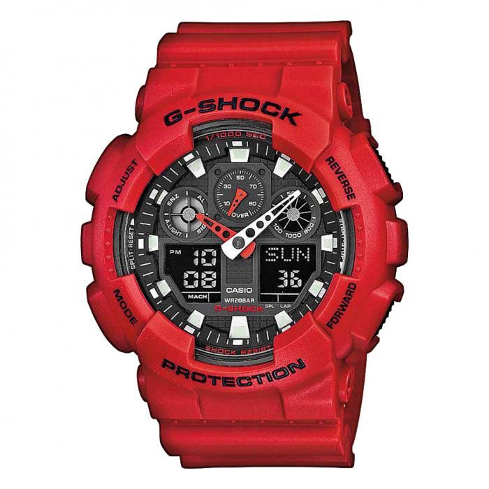 SKU-18407 / CASIO G-SHOCK Chronograph Red Rubber Strap