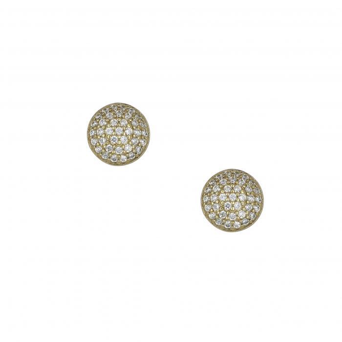 SKU-18243 / Σκουλαρίκια Χρυσός Κ14 με Ζιργκόν