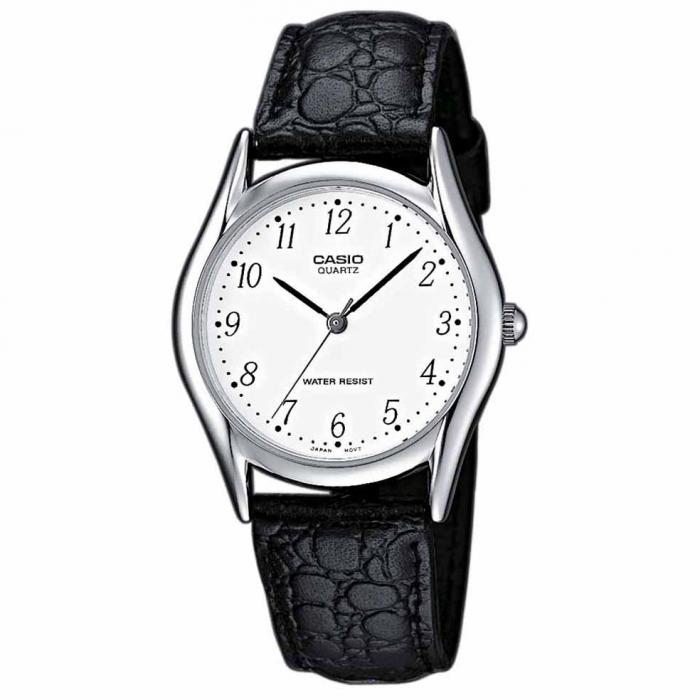 SKU-19805 / CASIO Collection Black Leather Strap