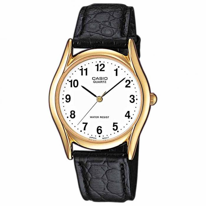 SKU-19807 / CASIO Collection Black Leather Strap