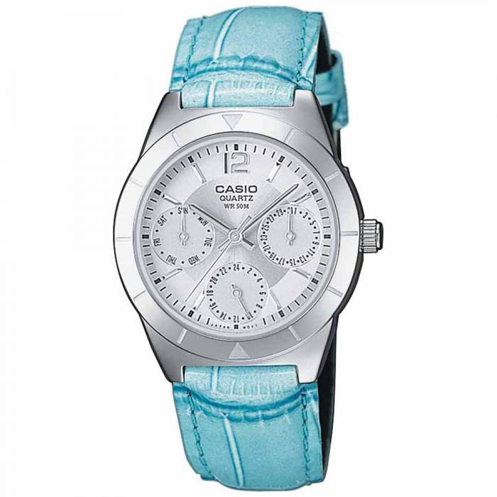 SKU-19677 / CASIO Collection Blue Leather Strap