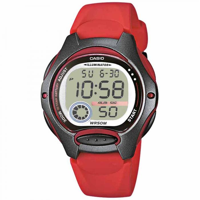 SKU-19720 / CASIO Collection Digital Red Rubber Strap