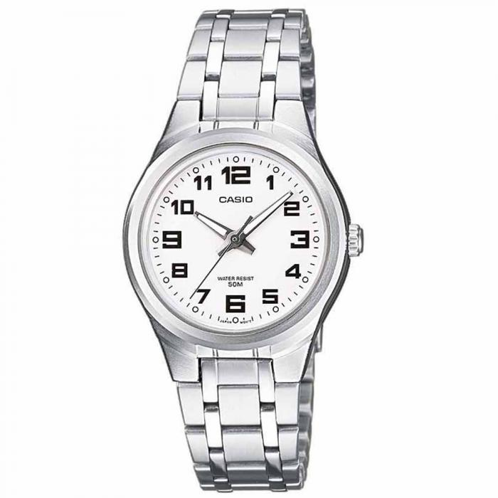SKU-19650 / CASIO Collection Stainless Steel Bracelet White Dial