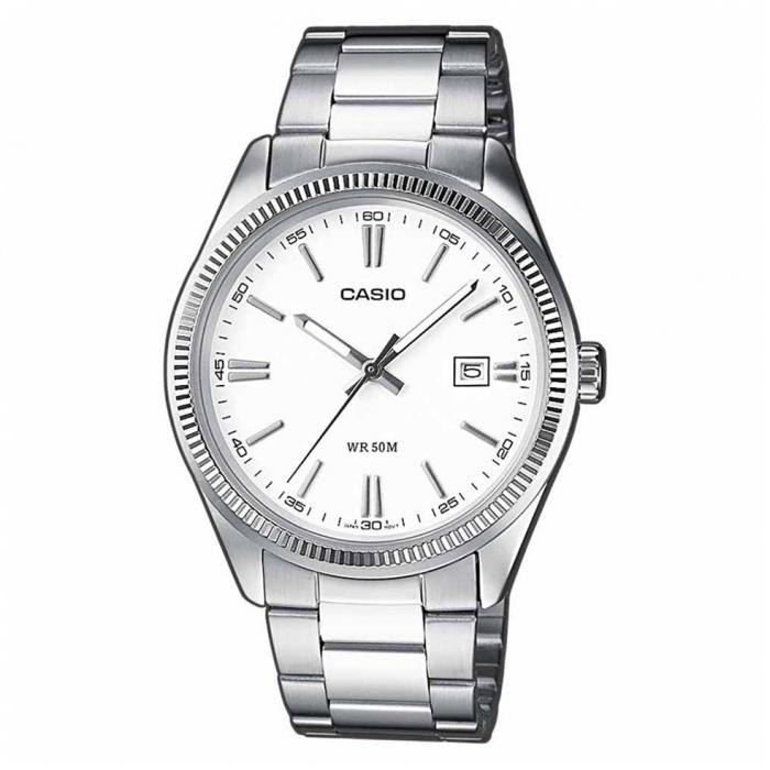 SKU-20261 / CASIO Collection Stainless Steel Bracelet White Dial