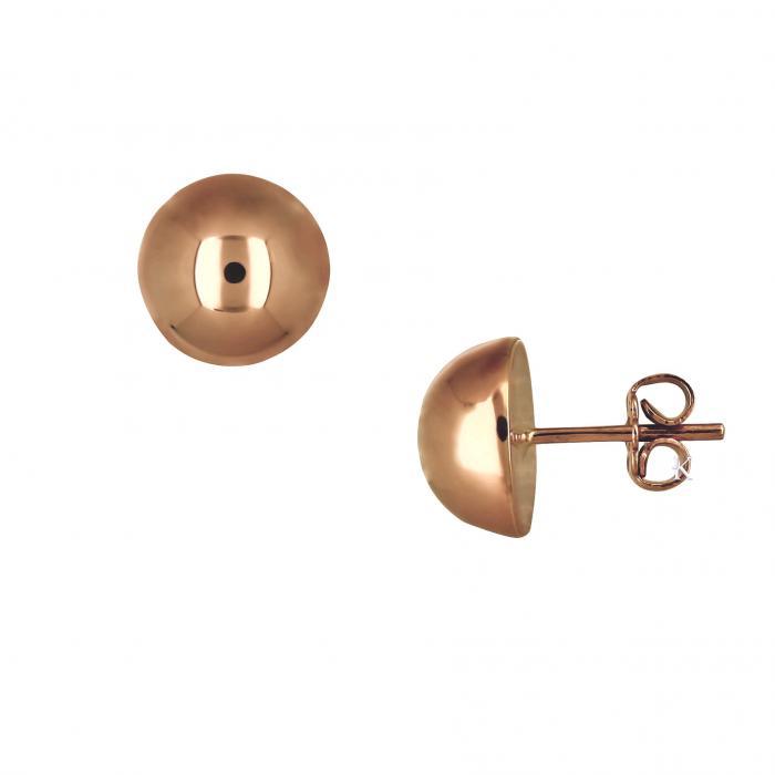SKU-20827 / Σκουλαρίκια Ροζ Χρυσός Κ14