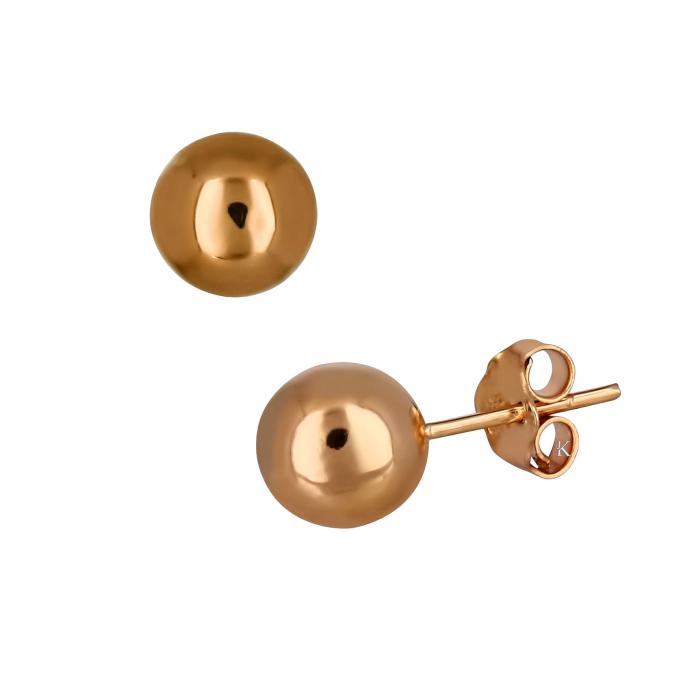 SKU-20829 / Σκουλαρίκια Ροζ Χρυσός Κ14