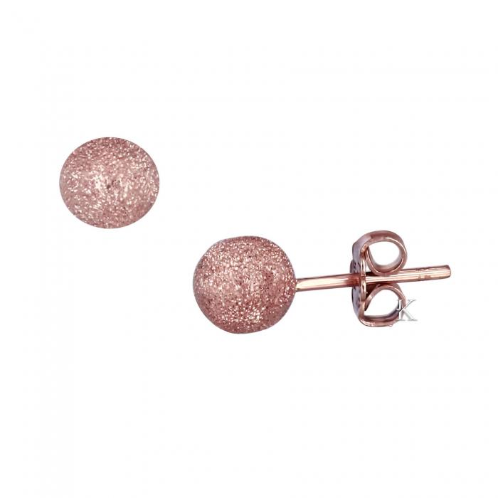 SKU-20831 / Σκουλαρίκια Ροζ Χρυσός Κ14