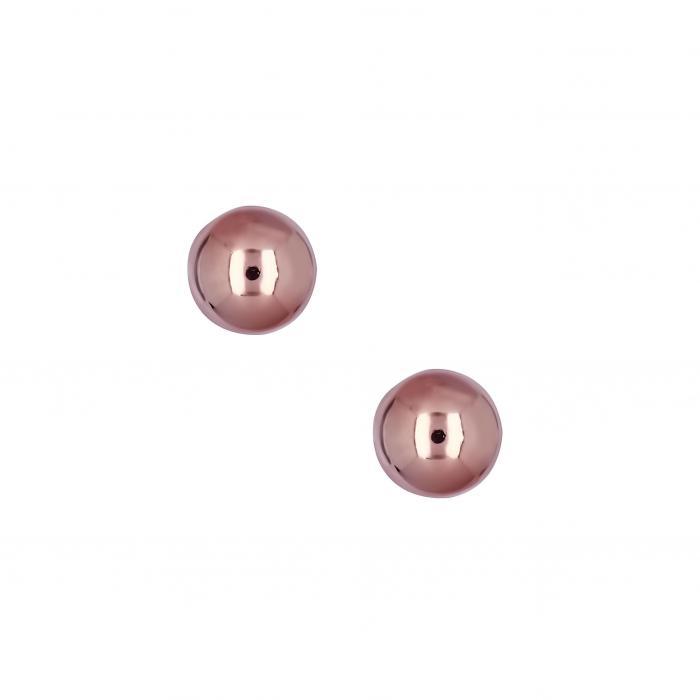 SKU-20843 / Σκουλαρίκια Ροζ Χρυσός Κ14