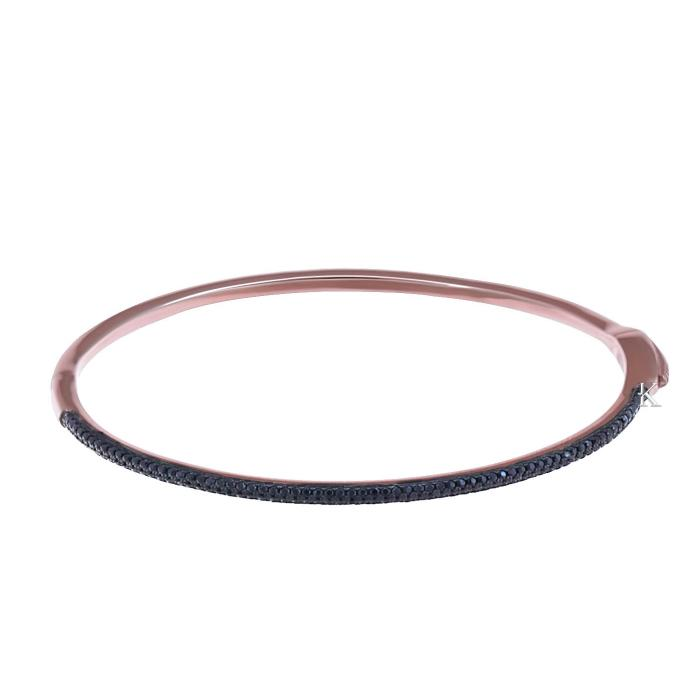 SKU-21570 / Βραχιόλι Χειροπέδα Ασήμι 925° με Ζιργκόν