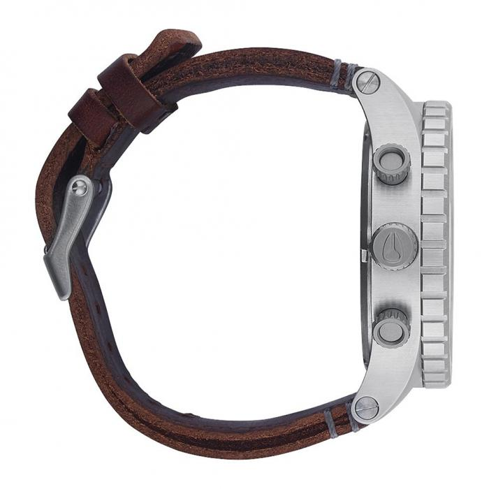 NIXON 51-30 Brown Leather Strap