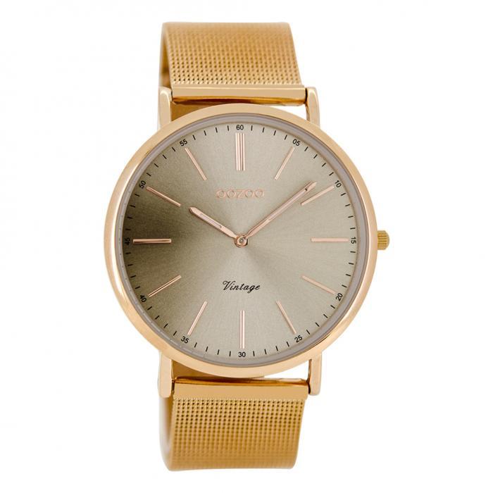 SKU-21071 / OOZOO Timepieces Vintage Rose Gold Metal Bracelet