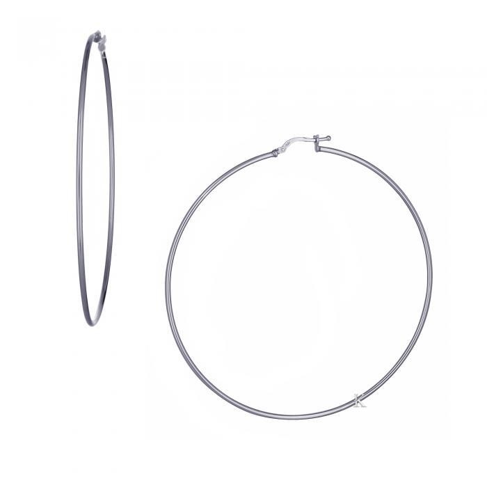 SKU-21467 / Σκουλαρίκια Κρίκοι Ασήμι 925°