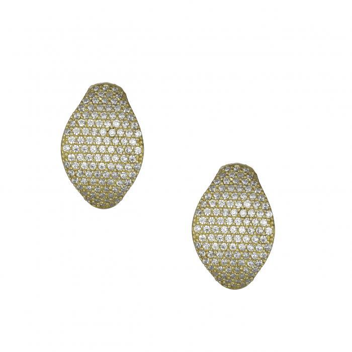 SKU-21846 / Σκουλαρίκια Χρυσός Κ14 με Ζιργκόν
