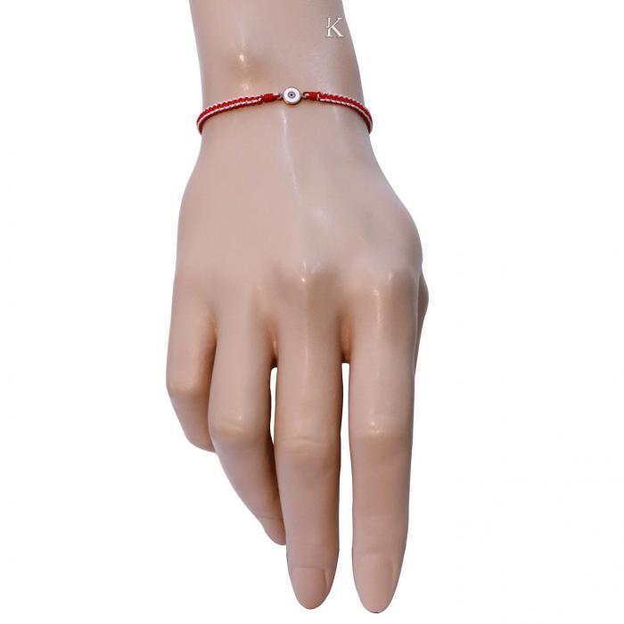 Βραχιόλι Γυναικείο Μακραμέ Ροζ Χρυσός Κ14 με Σμάλτο