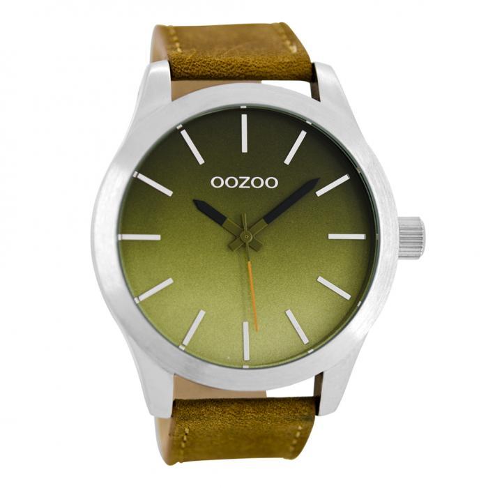 SKU-22560 / OOZOO Timepieces Brown Leather Strap
