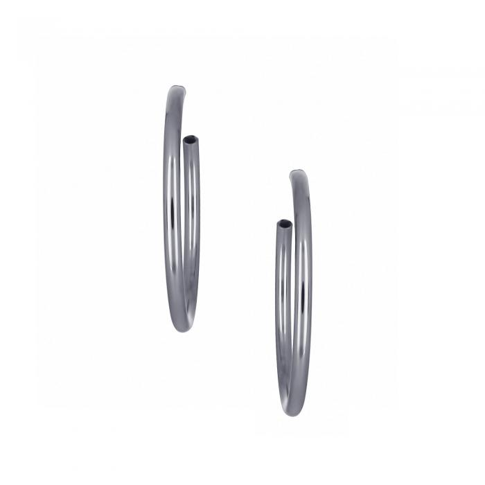 SKU-22025 / Σκουλαρίκια Κρίκοι Ασήμι 950°