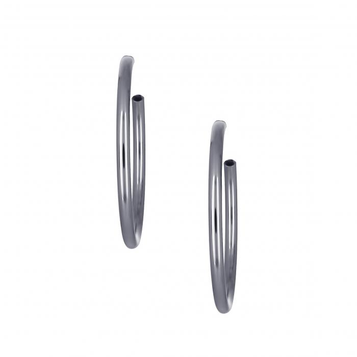 SKU-22027 / Σκουλαρίκια Κρίκοι Ασήμι 950°