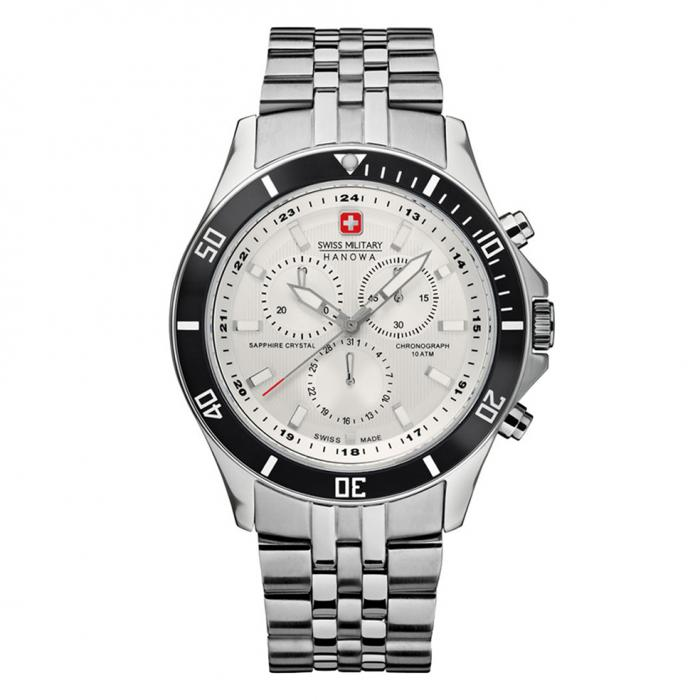 SKU-22989 / SWISS MILITARY HANOWA Flagship Chrono Stainless Steel Bracelet