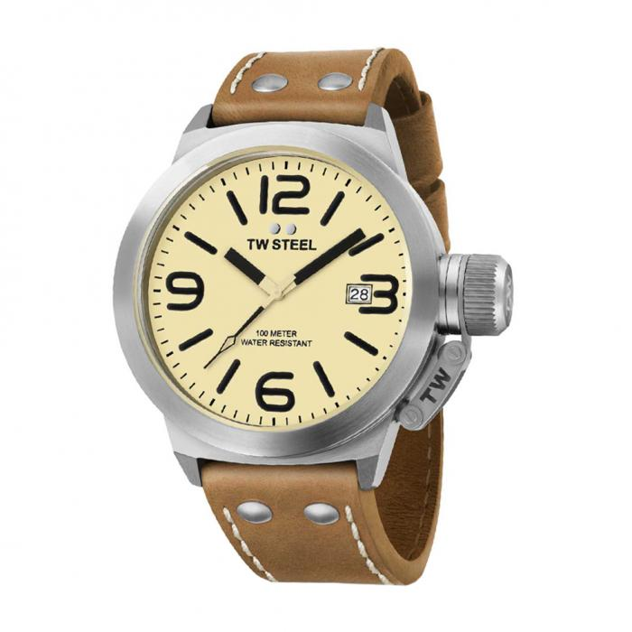 SKU-22112 / TW STEEL Canteen Brown Leather Strap